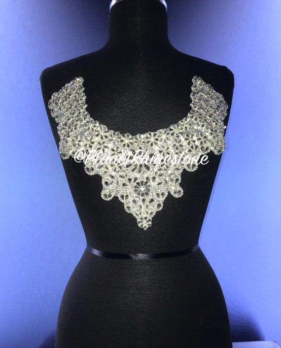 Emma Crystal Neckline Applique