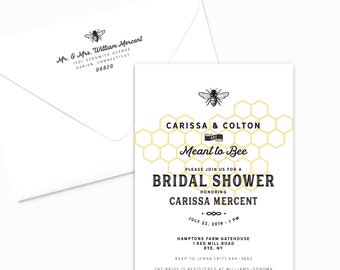 Meant to Bee Invitations, Bee Bridal Shower Invitations, Bridal Shower Invitations, Meant to Bee Wedding, Meant to Bee Honey, Bee Bride