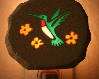 Green Hummingbird Nightlight