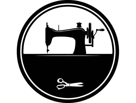 sewing machine tailor fashion sew thread tailoring scissors rh etsy com sewing machine clip art black and white sewing machine clipart png