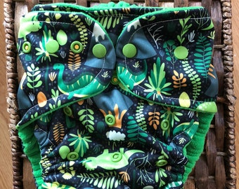 One Size Dino All in One Cloth Diaper