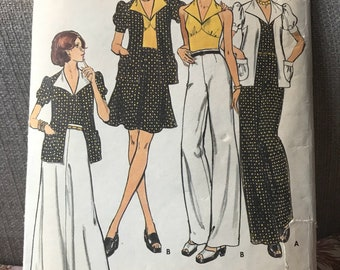 Vintage 70s Butterick 3628 Suiting Separates-Size 10 (32 1/2 Bust)