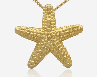 Gold Starfish Pendant Sea Star