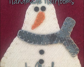 """OOAK Buttermilk Basin's """"January"""" candle mat completed 100% wool"""