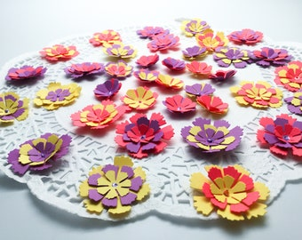 Handmade Flowers - Bunch of balloons - bright flower Embellishments - 3D Flower - white paper flowers - colorful flowers - paper crafts