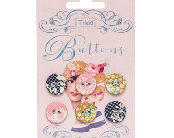TILDA Memory Lane - Fabric Covered Buttons