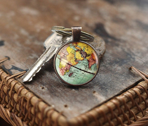 World map globe keychain earth keychain globe keychain map like this item gumiabroncs