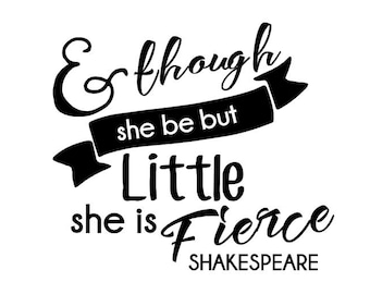 She is little but Fierce, Car Decal, Silly Decal, Window Decal, Vinyl Decal, Custom Decal, Gifts Under 10, Yeti Decal, Decal, Birthday Gift