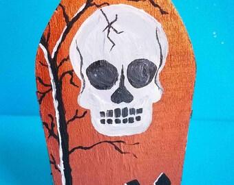 Hand painted Skull Mini Coffin