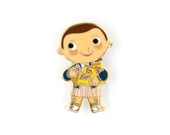 Stranger Things Eleven Hard Enamel Pin by Joey Spiotto / Eleven Pin / Halloween / 80s Lapel Pin / Eggo Waffle Pin / Jewelry / Cute