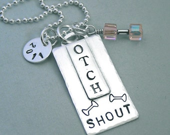 OTCH - Sterling Silver Hand Stamped Pendant  - For Dog Obedience Enthusiasts