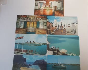 Set Of Seven Vintage Postcards From Bermuda