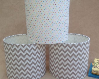 Grey and White Zig Zag Chevron Lampshade 20cm 30cm 40cm Ceiling or Floor/Lamp