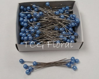 """Corsage / Boutonniere Pins  2"""" Pearl Blue"""