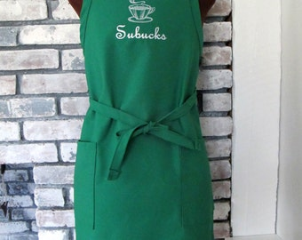 Personalized Apron for Coffee Lover - Monogrammed Apron - Coffee or Tea apron for Woman or Man