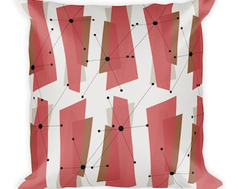Decorative Retro Starburst Throw Pillow Square