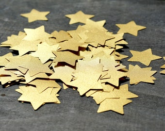 Paper stars, Star cutouts, CHOOSE SIZE, Star baby shower, Star decorations, Gold paper stars, Twinkle twinkle little star baby shower