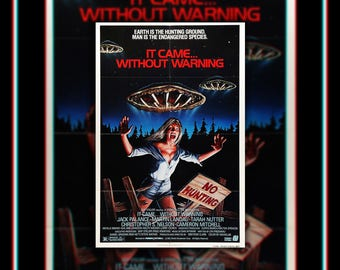 It Came WITHOUT WARNING (1980) Horror Very Rare 27x40 Fold US One Sheet Movie Poster Original Vintage Collectible