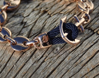 Anchor chain bracelet - Nautical bracelet - Nantucket in stainless steel - Waterproof