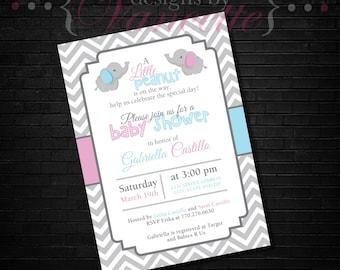 Elephant Baby Shower Invite, Elephant Baby Shower Invitation, Elephant Baby Shower, Elephant Invite, Elephant Invitation, Baby Shower Invite