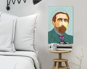 Joseph Conrad  FRAMED ART Literature  iconArt gallery Personalized Gift, Name, City, Gift For Women, For Men, For Grandma, For Grandpa,
