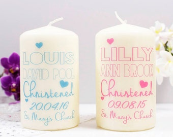 Christening Candle For Boys And Girls - Christening Candle - Baptism Candle - Naming day candle - Christening gift - Baptism gift