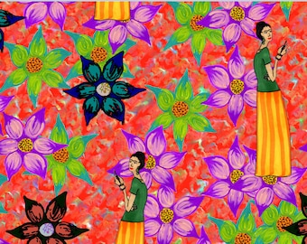 Frida Kahlo Inspired Wrapping Paper Sheets