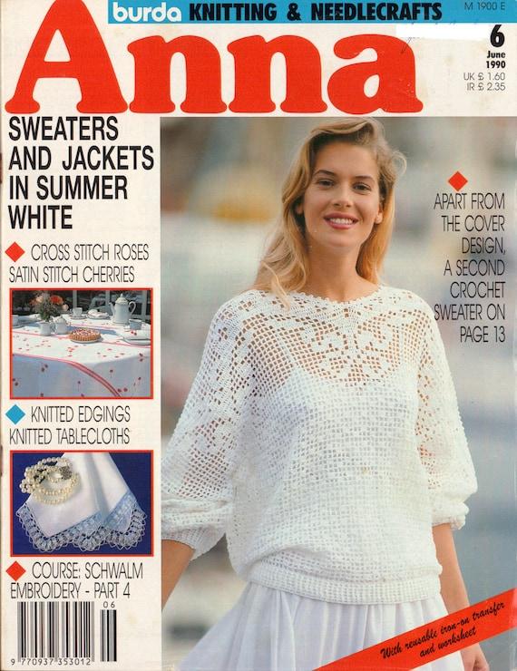 90s Burda Anna 6 Knitting Needlecrafts Magazine Including