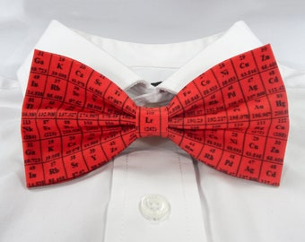 Periodic Table Bow Tie, Elements Bow Tie, Science Bow Tie