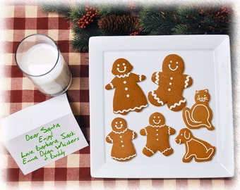 Gingerbread Family Cookie Personalized Print- The Cookies Represent Your Family Members- Unique Holiday Gift