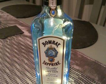 SALE, Bombay sapphire Gin lights in a bottle.
