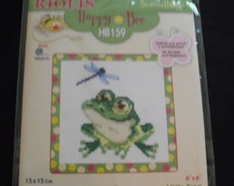 Frog- Counted Cross Stitch Kit