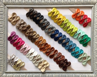 Click Clack leather for women and girl bow - clip individually, color choice, to order