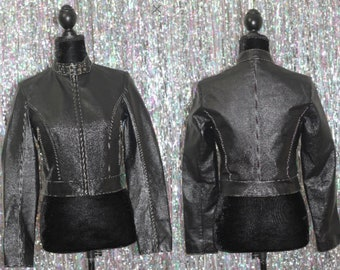 90's Wilson's Leather Black Motorcycle Jacket (S) *NEW