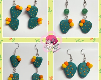 The figs earrings polymer clay India