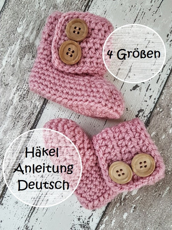 Deutsch Pattern Baby Booties Baby Uggs Crochet Pattern Crochet