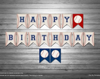 Baseball Happy Birthday Banner, INSTANT DOWNLOAD, Baseball Banner, Sports Banner, Happy Birthday Banner, Baseball Banner, All Stars Birthday