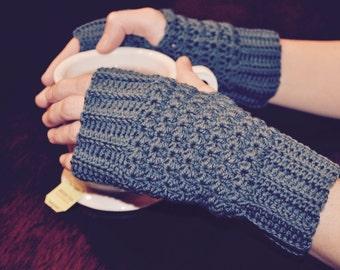 Crochet Pattern - Star Stitch Mitts - Fingerless Glove PDF Pattern