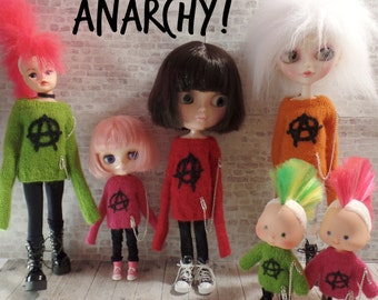 PDF knitting pattern for Anarchy sweater in FOUR sizes