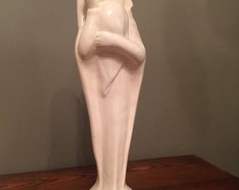 Beautiful White Ceramic Madonna and Child statue