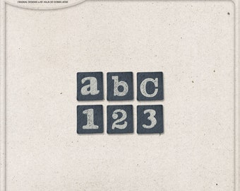 Lower Case, Paper Alphabet, Letters and Numbers, Symbols and Punctuation, Busy Life, Instant Download, Digital Alpha, Scrapbook Supplies
