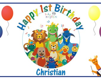 Personalized Baby Einstein Birthday Party Big Vinyl Banner Sign Decoration