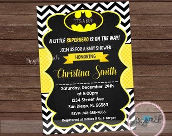 Batman baby shower Etsy