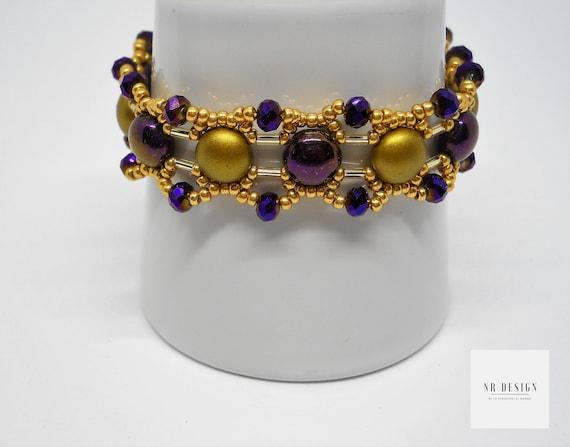 Golden bracelet handmade