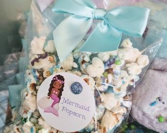 Mermaid Popcorn party favors