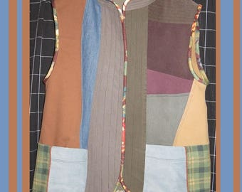 Vest, Plus Size,'One of a Kind', Pieced Vest, Swing Vest, Medium weight, Vancouver n Houston Winters, Classic n Classy