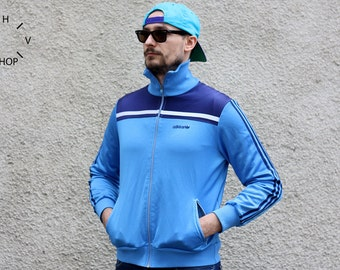 Vintage Adidas track top / Adidas sports oldschool jacket / Adidas trefoil track suit top / Unisex track top jacket / 80s S M