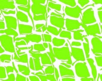 Lime Green Cheetah --- Animal Print Fabric ---- Fabric By The Yard --- He Said She Said