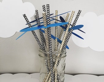 Propeller Flags for Party Straws (Straws not Included)