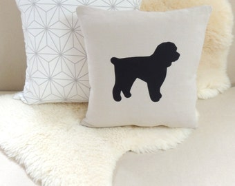 Cockapoo Pillow Cover- Rustic Modern